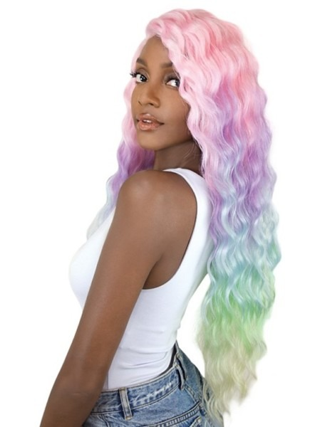 Its A Wig Synthetic Unicorn Color Lace Front Wig Sun Dance