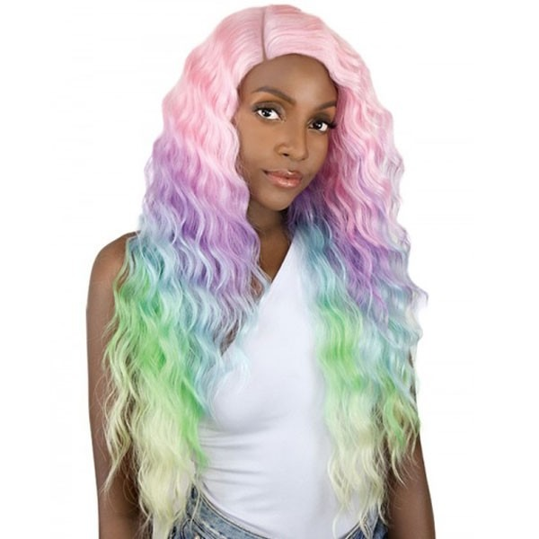 It's A Wig Synthetic Unicorn Color Lace Front Wig Sun Dance