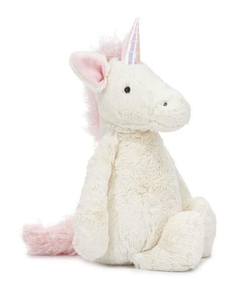 Jellycat Large Bashful Unicorn Stuffed Animal, Cream