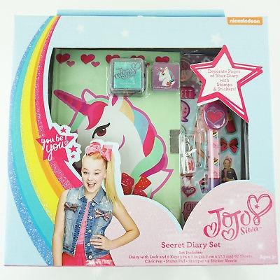 """Jojo Siwa Unicorn Diary With Lock And Key For Girls 7"""" Secret"""