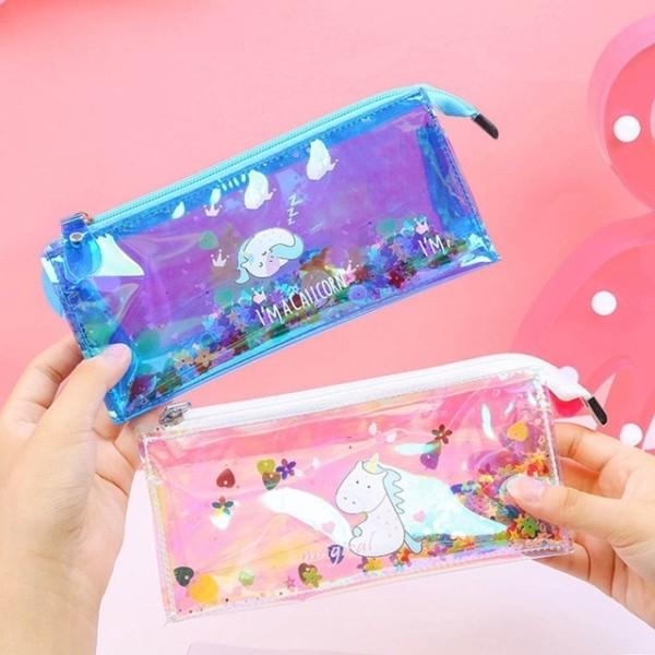 Kawaii Unicorn Sequins Laser Rainbow Glitter Transparent Pencil