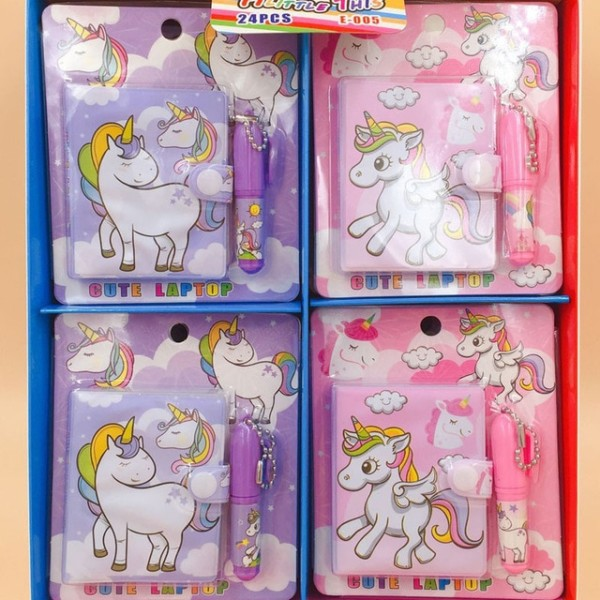 Kawaii Unicorn Set 1 Notebook+1 Ballpoint Pen Writing Diary Book