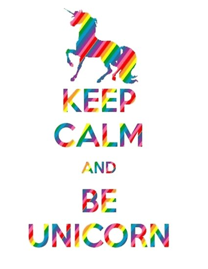 Keep Calm And Be A Unicorn  Posters By Mira Images World
