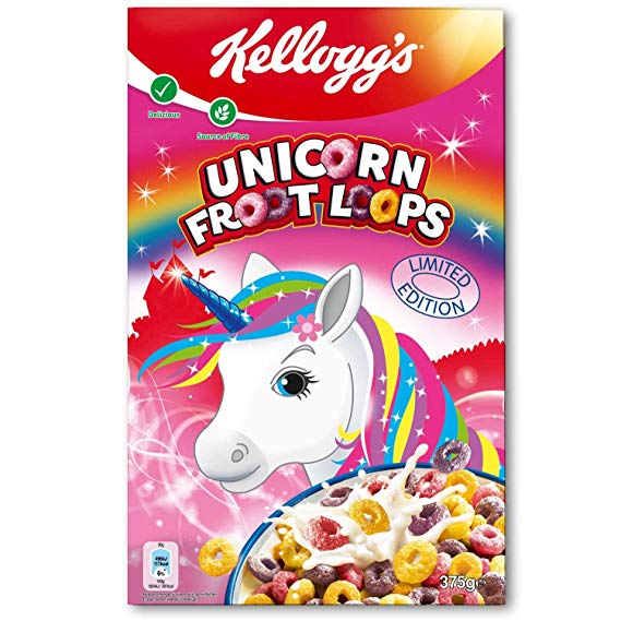 Kellogg's Unicorn Froot Loops Limited Edition Cereal 375g  Amazon