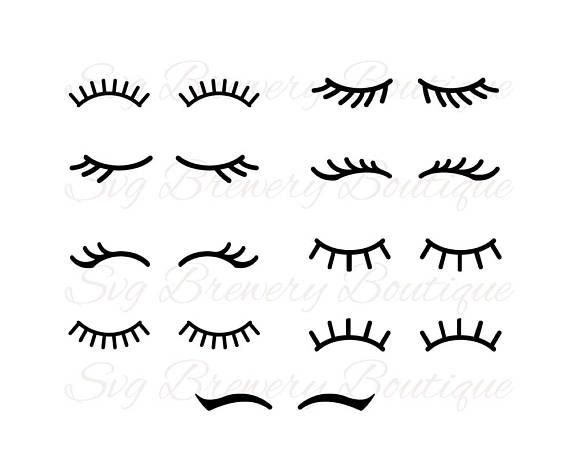 Lashes, Eyelashes, Svg, Png, Dxf, Eps, Pdf For Cricut, Silhouette