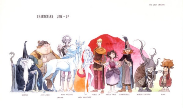 Last Complete Print Set Of Kubo Concept Art From The Last Unicorn
