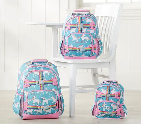 Mackenzie Aqua Unicorn Backpack