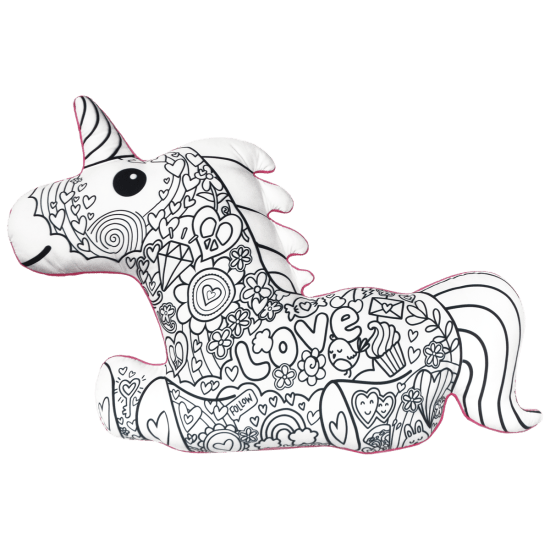 Magical Unicorn Color Me Pillow