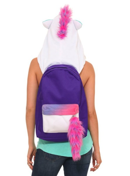 Magical Unicorn Hoodie Backpack