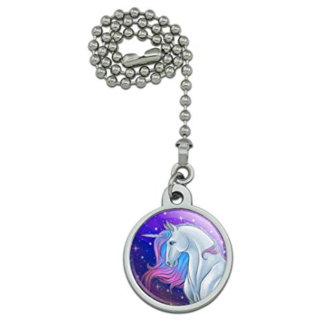 Majestic Unicorn Pink Purple Blue Ceiling Fan And Light Pull Chain