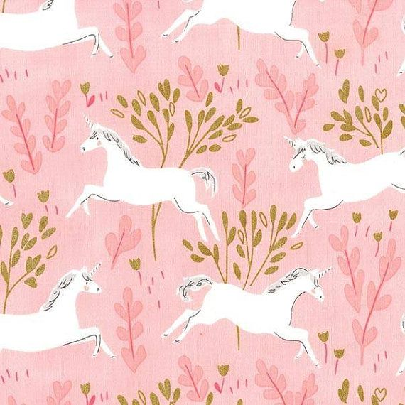 Michael Miller  Magic  Unicorn Forest Pink