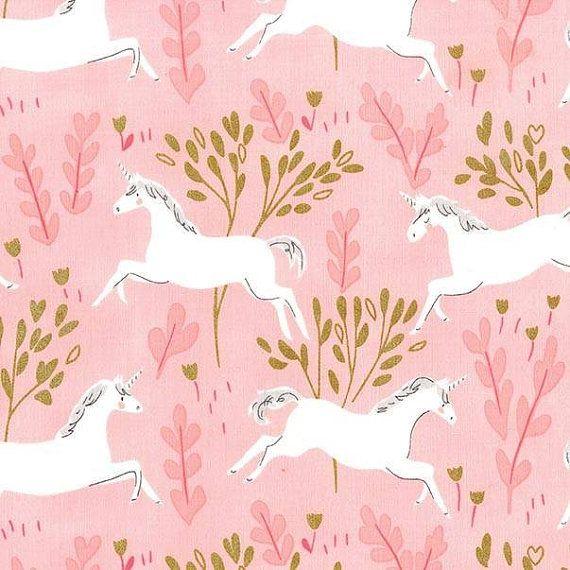 Michael Miller  Magic  Unicorn Forest Pink