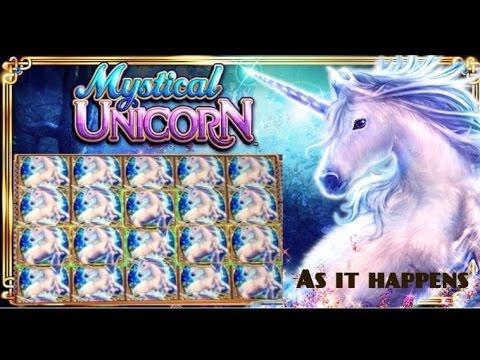 Mystical Unicorn Slot Machine Amazing Bonus Win (full Screen  14