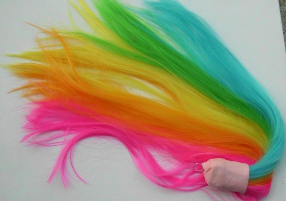 Neon Rainbow Tail Unicorn Tail Unicorn Costume Horse My