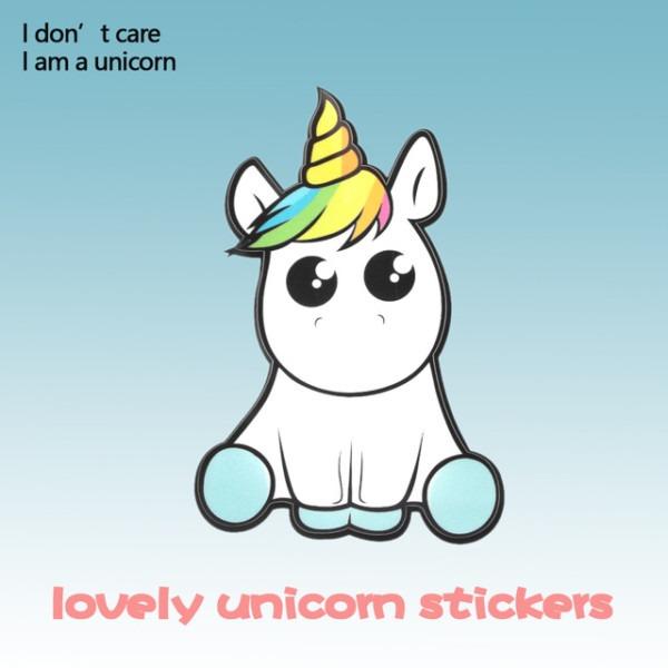 New Lovely Unicorn Car Sticker Cartoon Window Decal Vinyl