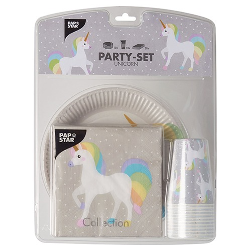 Party Set  Unicorn  Plates, Cups And Napkins