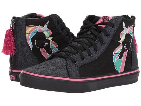 Perfect Vans (unicorn) Rainbow Black Glitter Sk8