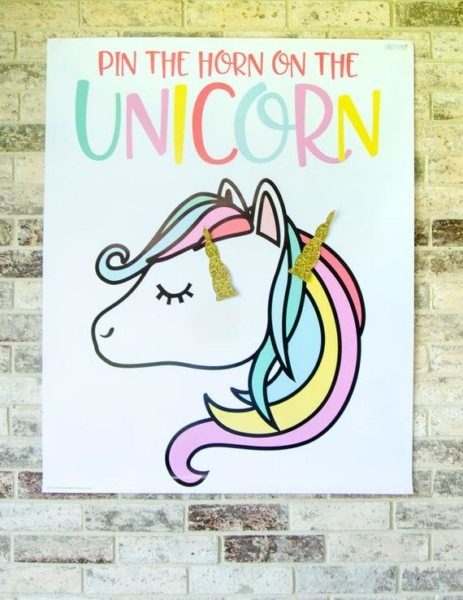 Pin The Horn On The Unicorn Game Printable Instant Download