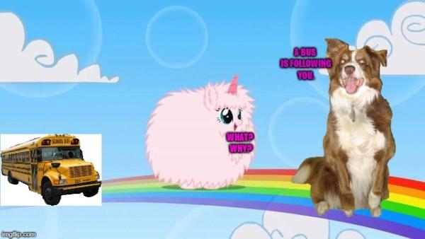 Pink Unicorns Dancing On Rainbows