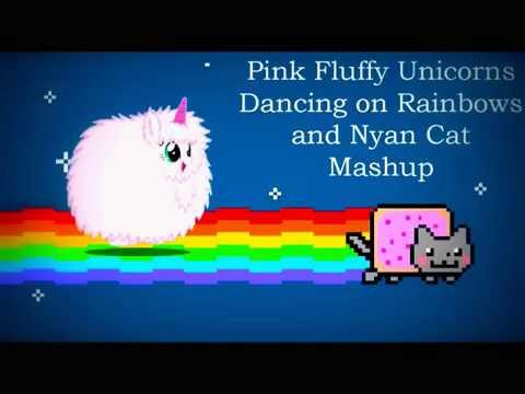 Pink Fluffy Unicorns Dancing On Rainbows And Nyan Cat Mashup