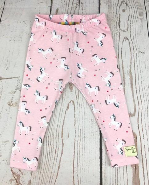 Pink Unicorn Print Baby Leggings, Toddler Leggings, Kids Leggings