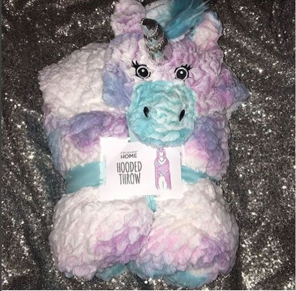 Primark Unicorn Fleece Blanket Throw Hooded Cosy Poncho