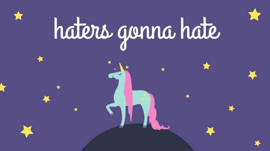 Purple Illustrated Unicorn Cute Desktop Wallpaper