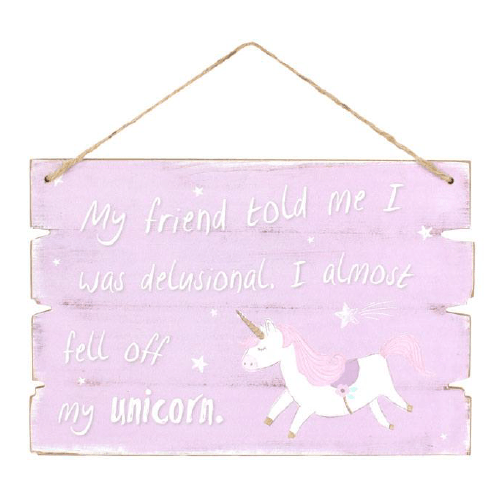 Purple Unicorn Plaque