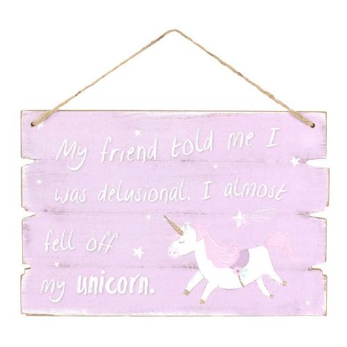 Purple Unicorn Plaque