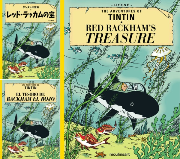 Red Rackham's Treasure Available In English, Japanese And Spanish