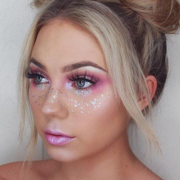Regram @muakays  Festival Makeup Look✨✨@toofaced Unicorn Tears