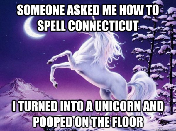 Someone Asked Me How To Spell Connecticut I Turned Into A Unicorn