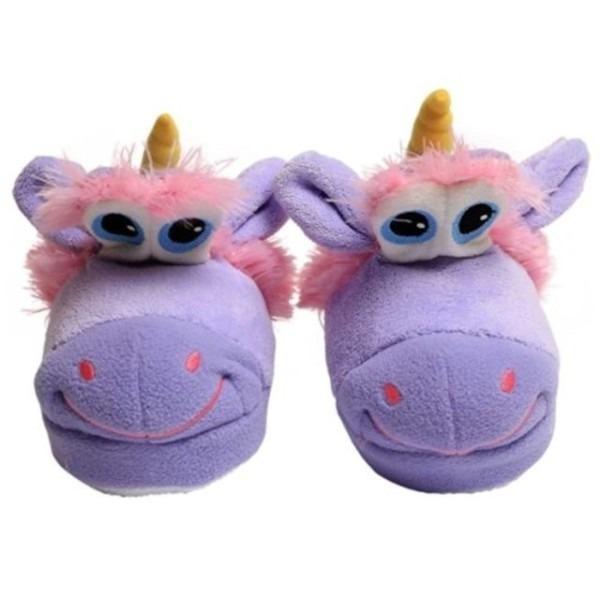 Stompeez Unusual Unicorn Kids Slippers As Seen On Tv Size Small 9