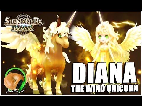Summoners War   Diana The Wind Unicorn (review & Gameplay)