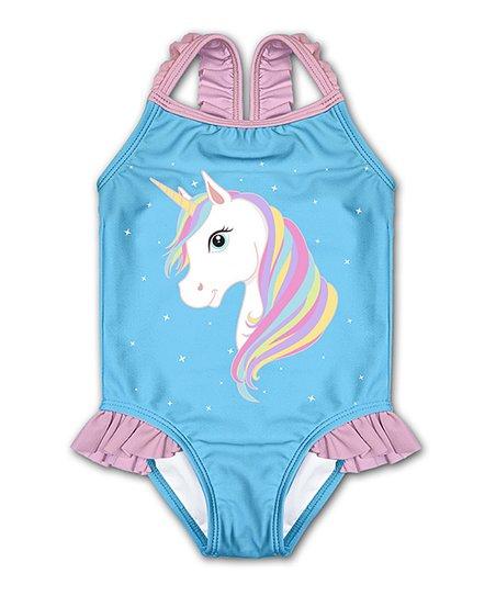 Sunshine Peppy Blue Unicorn Swimsuit