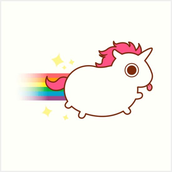 Super Cute Unicorn   Art Prints By Katiecrumpton