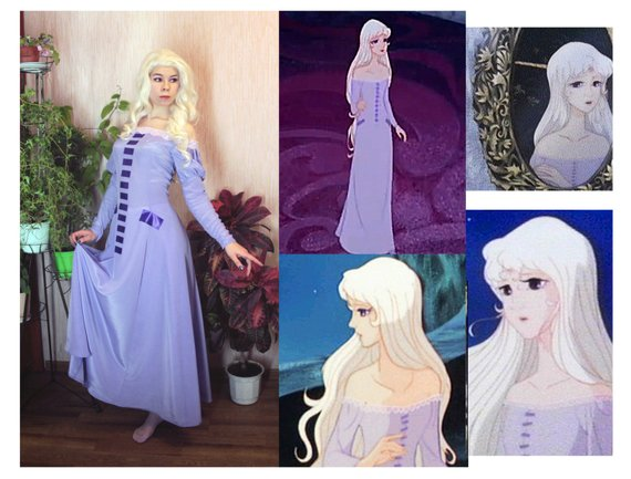 The Last Unicorn Lady Amalthea Dress Halloween Costume For