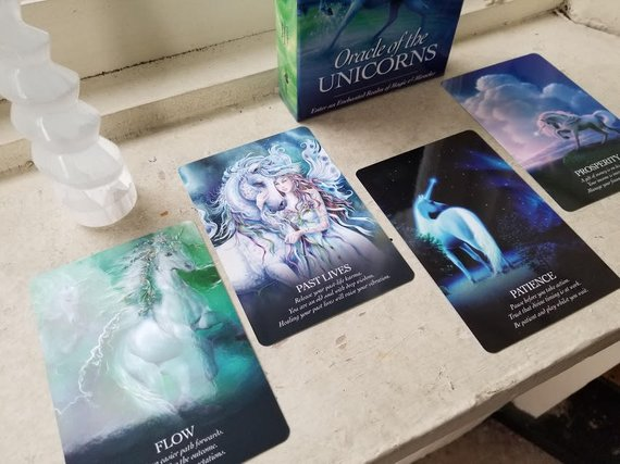 Through The Forest Oracle Of The Unicorns 4 Card Reading
