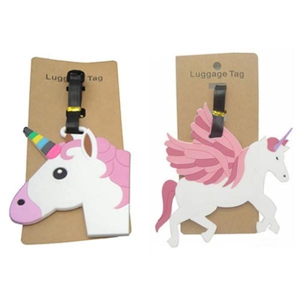 Travel Accessories Unicorn Luggage Tag Creative Silica Gel