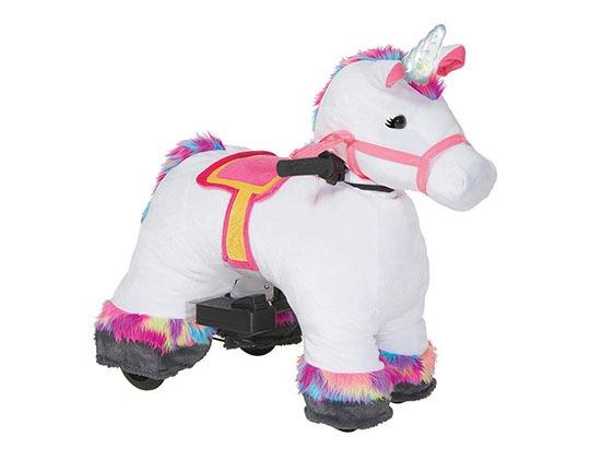 Unicorn 6v Plush Ride