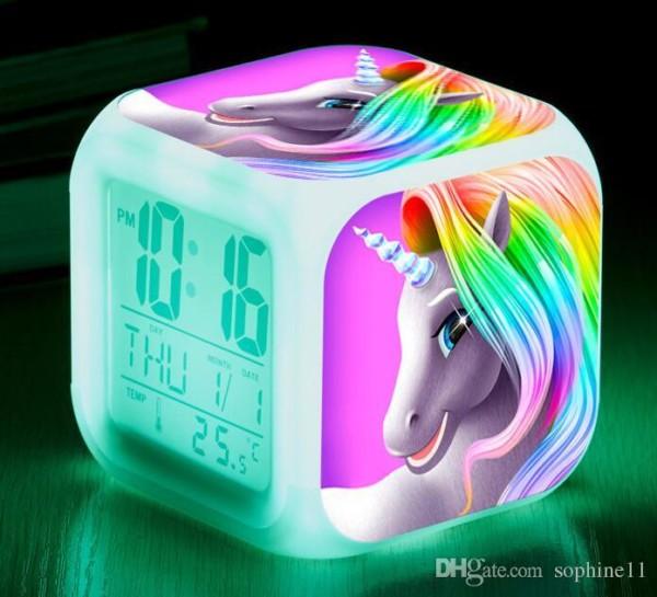 Unicorn Alarm Clock Cute Girls Unicorn Mini Retro Cute Cartoon