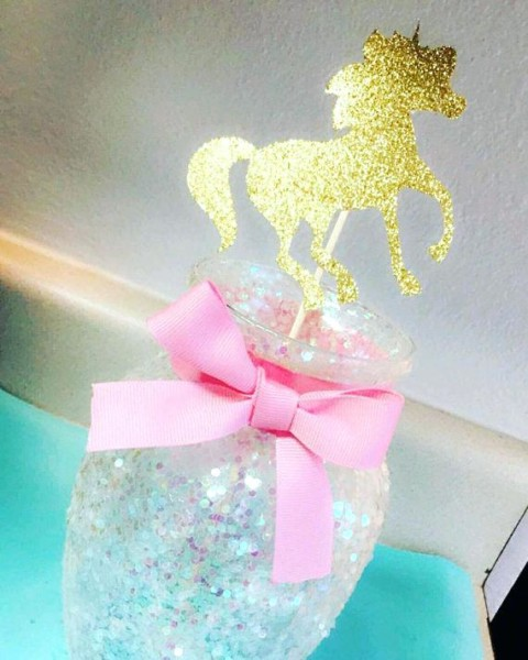 Unicorn Baby Shower Centerpieces A Birthday Ias A Mesa Mesa
