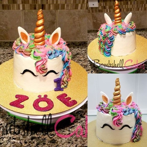 Unicorn Cake  Cakelife  Unicorncake  Atlanta  Firstbirthdaycakes
