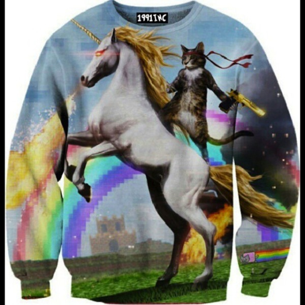 Unicorn Cat Jumper On The Hunt
