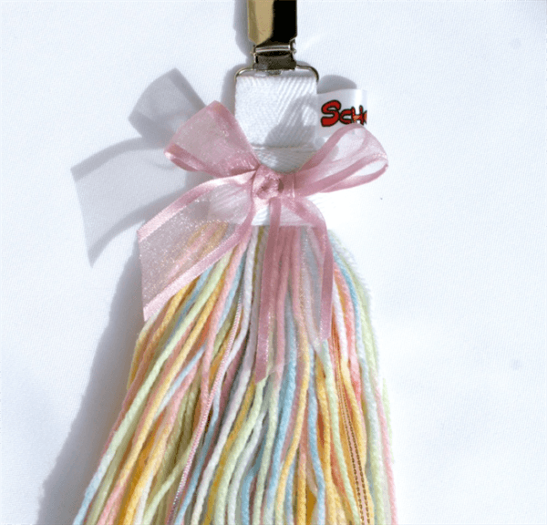 Unicorn Clip On Tail  Rainbow   Wool   Ribbon  Dress Up   Costume