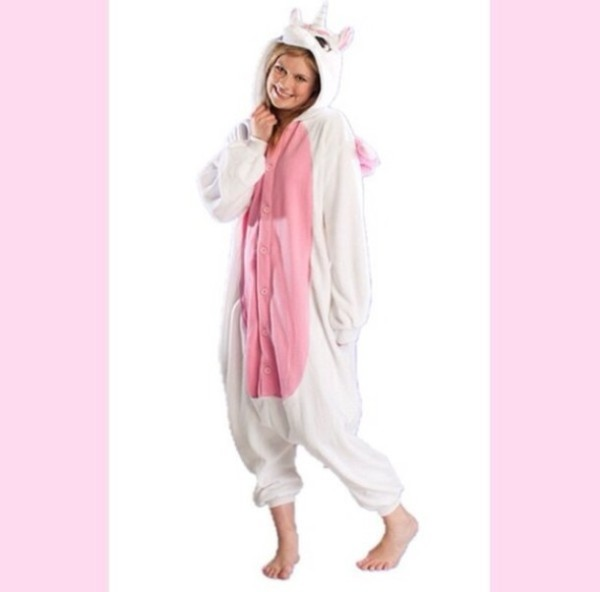 Unicorn, Costume, Halloween, White, Cute, Cozy, Pajamas