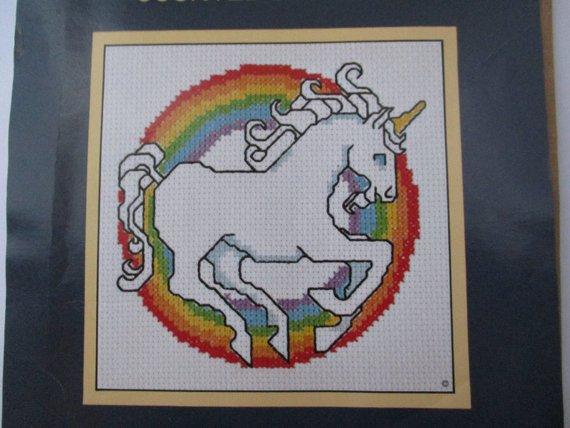 Unicorn Counted Cross Stitch Kit Vintage Unicorn Kit Cross
