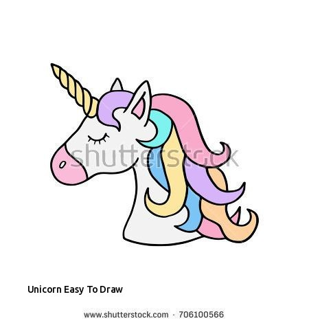 Unicorn Easy To Draw Colorful Rainbow Unicorn Vector Illustration