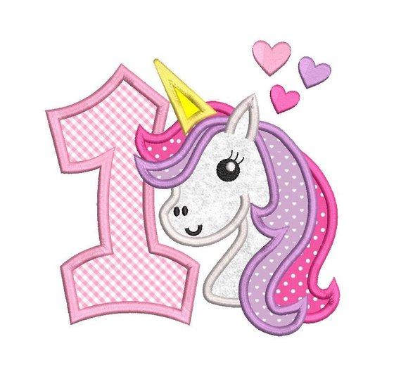 Unicorn Embroidery Design 1st Birthday Unicorn Unicorn