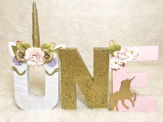 Unicorn Floral Letters